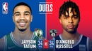 D'Angelo Russell Jayson Tatum Both Go For 34 Points January 14 2019