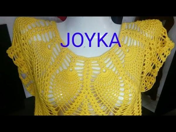 Blusa Tejida Fácil A Crochet Todas Las Tallas (JOYKA)