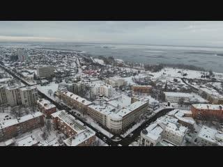 Зима в Черкассах с высоты.(Winter in Cherkassy from height)in 4k DJI PHANTOM 4 [720p]