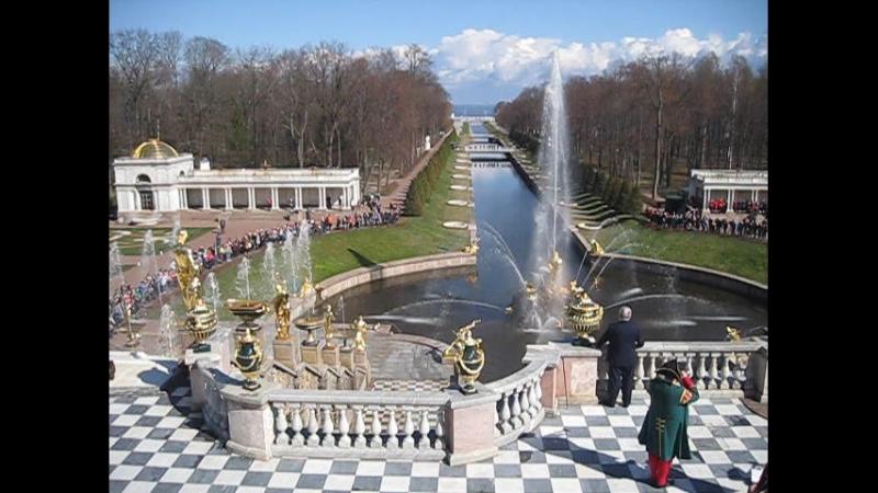 Санкт Петербург открытие сезона фонтанов апрель 2016 год