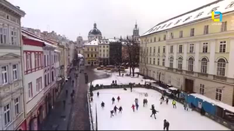 Lviv city in Winter (Ukraine)