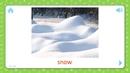 Snow Weather And Seasons Flashcards for Kids