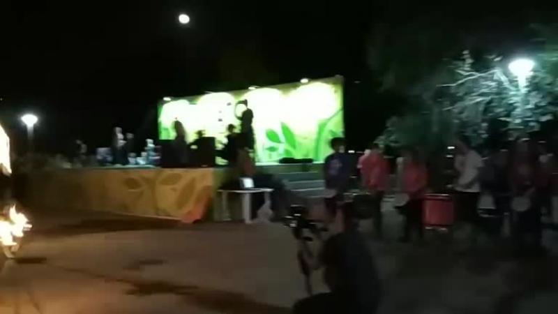 барабаны мира и файер шоу
