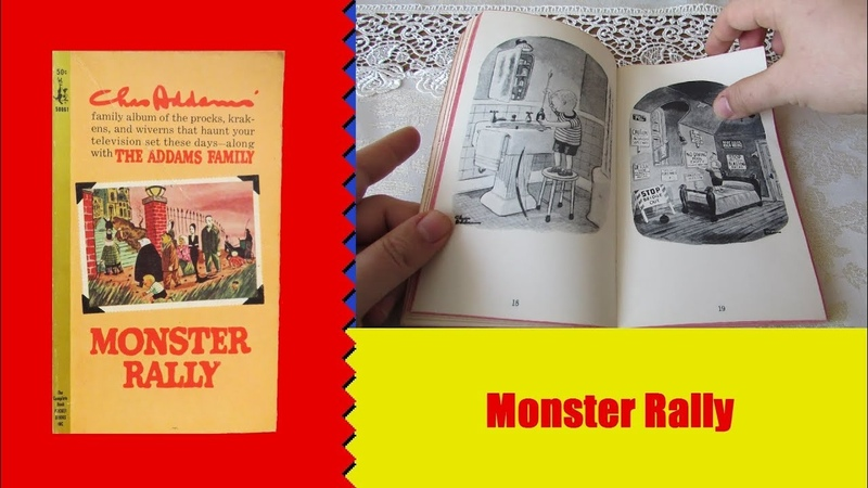 Изнутри 5 Monster Rally карманная книга о Семейке Аддамс