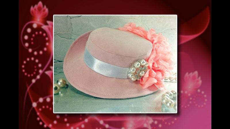 Como hacer un elegante sombrero a mano - elegant hat tutorial