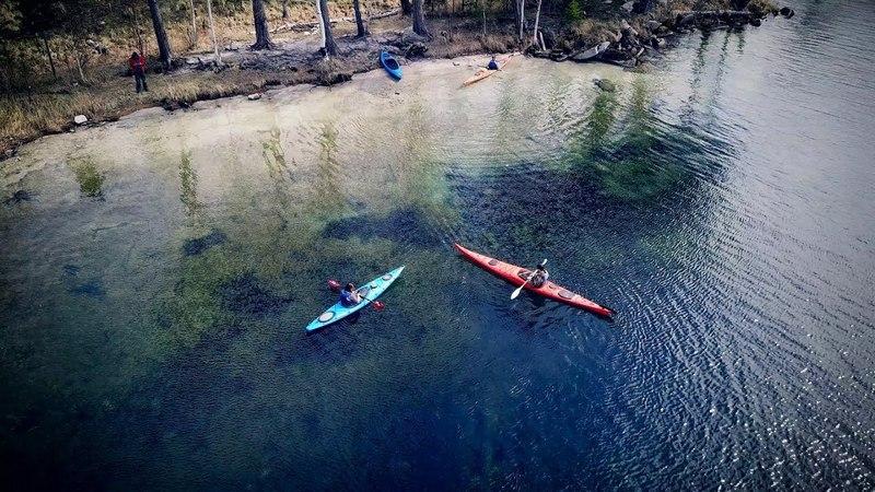 Прогулка на каяках по озеру Тургояк UHD 4k
