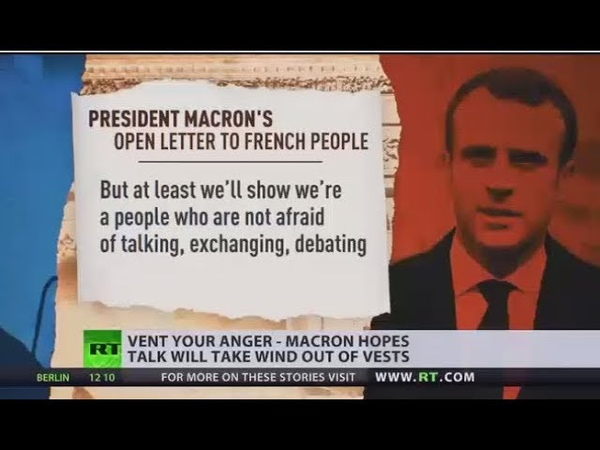 Vent Your Anger Macron invites France to engage in national debate on Yellow Vests concerns