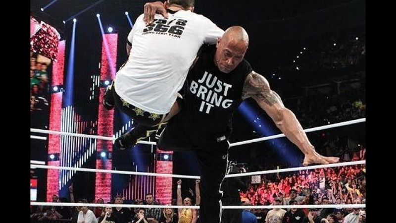 The Rock vs CM Punk (WWE Championship) Royal Rumble 2013