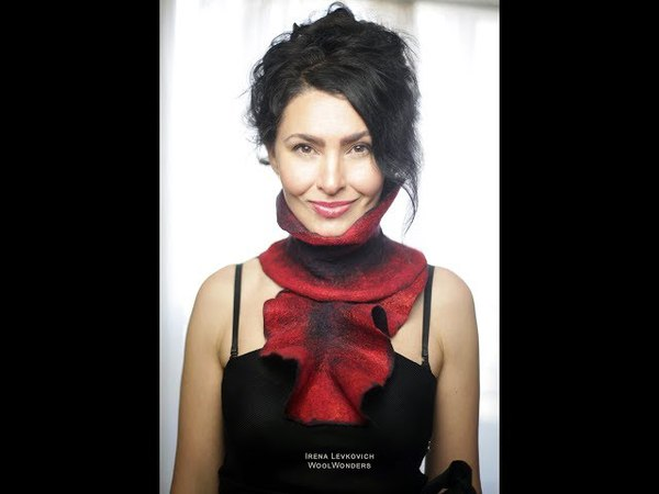 How to make Ruffle Scarfs 6 different styles and colors DIY project with merino and silky Fibers