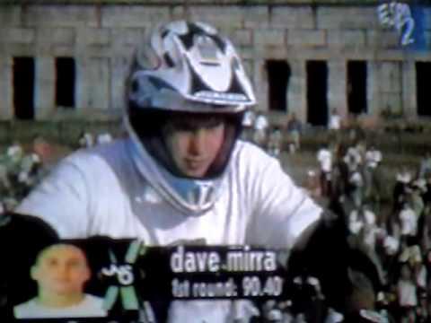 Dave mirra 1995 xgames bmx vert 1st and 2nd run