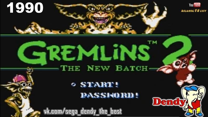 Гремлины 2 Новая Партия Dendy Прохождение игры Gremlins 2 The New Batch NES Walkthrough Денди 1990