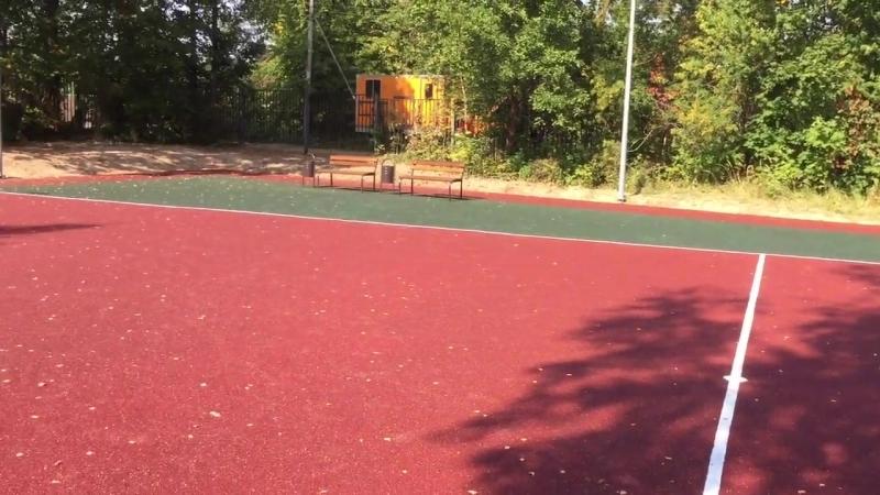 Спортивная площадка в Снегиревской средней школе Антон Щипачёв Снегири рф
