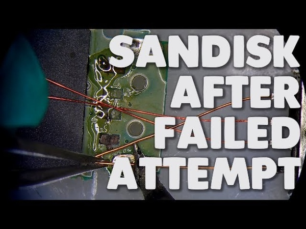 Sandisk flash drive data recovery after a failed attempt