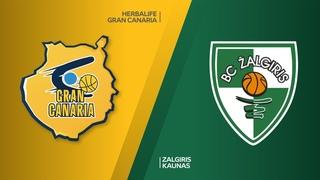 Herbalife Gran Canaria - Zalgiris Kaunas Highlights   Turkish Airlines EuroLeague RS Round 15
