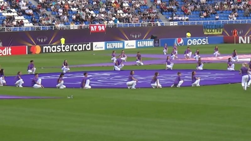 2017 18 ЖЛЧ УЕФА Церемония открытия финального матча ЖФК Вольфсбург ЖФК Олимпик Лион от 24 05 2018 г