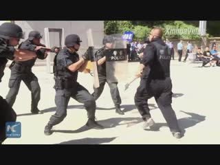 Вот как тренируется спецназ в провинции Ганьсу!