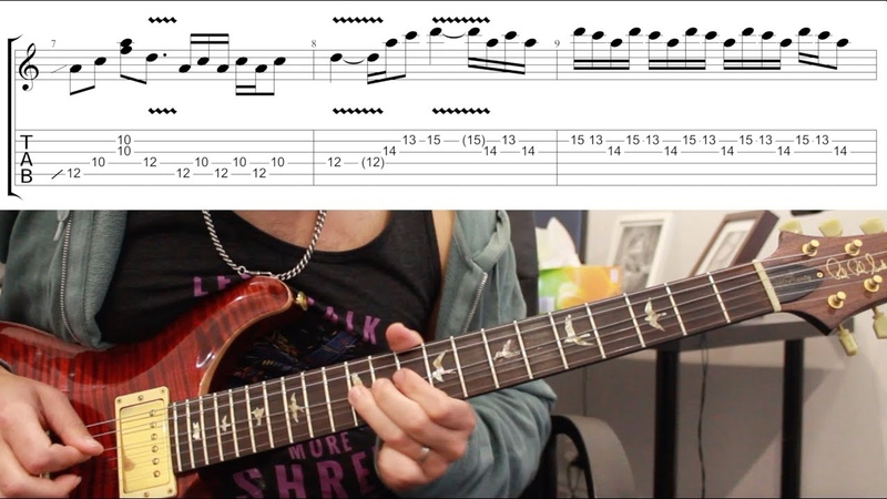 How to play 'Dani California' by Red Hot Chili Peppers Guitar Solo Lesson w/tabs