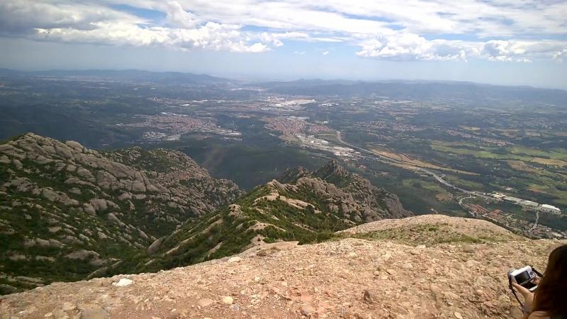 Вид с горы Монсеррат, Каталония