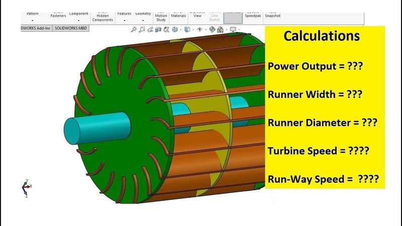 How to Calculate Width | Diameter | Speed of Cross Flow Turbine