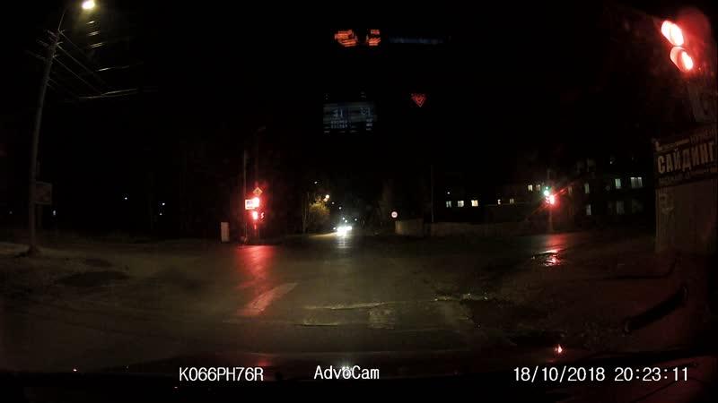 Водитель перепутал сигналы светофора