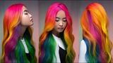 90's Cereal Hair Color Challenge Rainbow Color Melt Hannah Lovin PRAVANA