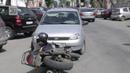 В Кургане на Советской произошло ДТП столкнулись мотоцикл и легковой автомобиль
