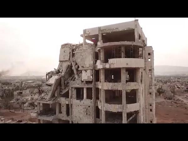 Syria War Video Российская Военная Полиция в городе, США и бармолеи потеряли Гуту