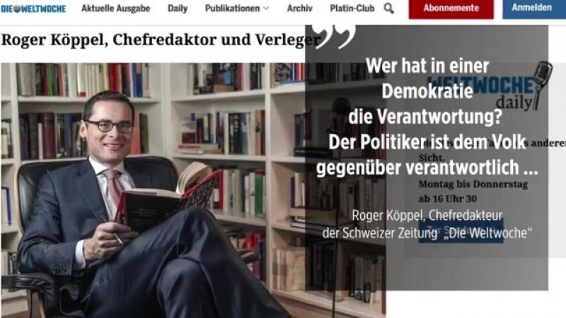 """Köppel und Sarrazin im Interview- """"Das Volk ist verantwortlich für die Qualität der Politiker"""""""