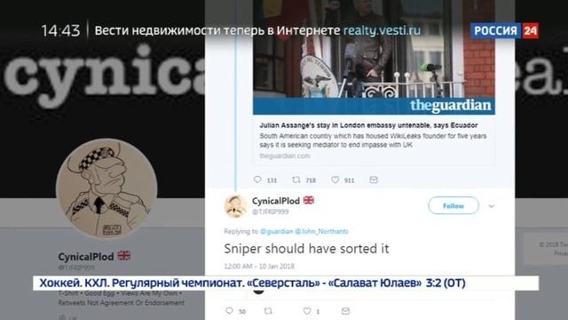 Новости на Россия 24 • Сторонники Джулиана Ассанжа полагают, что за ним охотится теневое государство