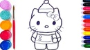 ⭐Glitter Hello Kitty Santa Claus coloring and drawing | Art Colors GO⭐