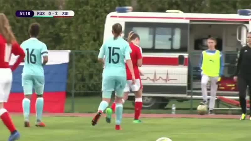 Девки устроили околофутбол во время матча Россия Швейцария