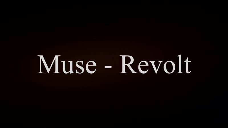 Muse - Revolt Cover
