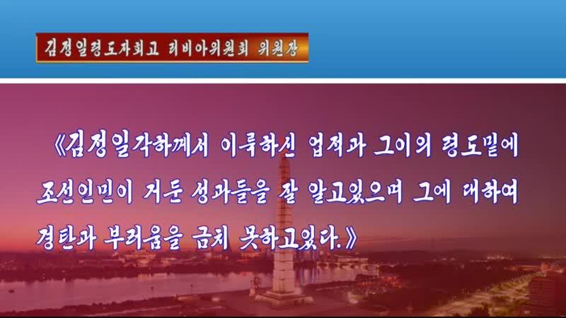 김정일동지회고행사 재중조선인총련합회에서 진행 외 1건