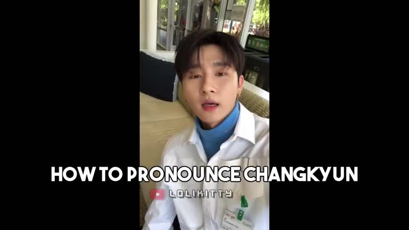 How to pronounce changkyun