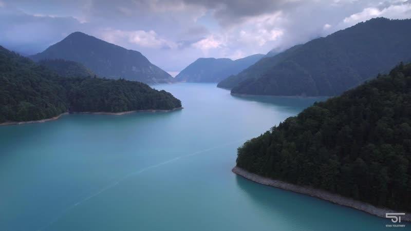 Потрясающая природа Грузии. Реки и озера, каньоны и водопады, Кавказские горы