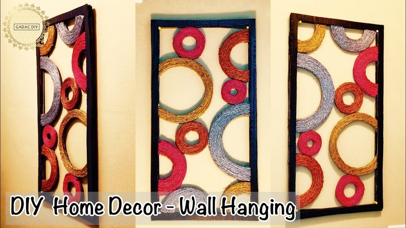 Diy Unique Wall Hanging   Wall Hanging Craft Ideas   diy wall decor   Wall hanging ideas