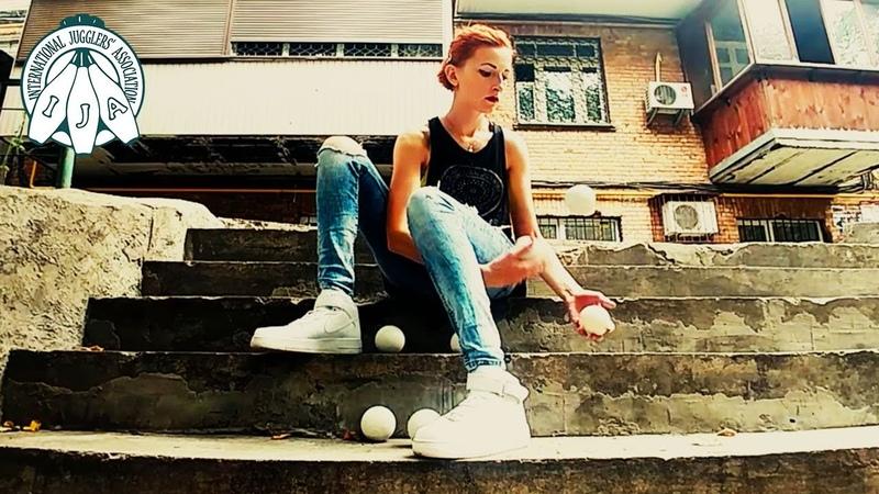 IJA Tricks of the Month by Mariia Martin from Ukraine   Juggling