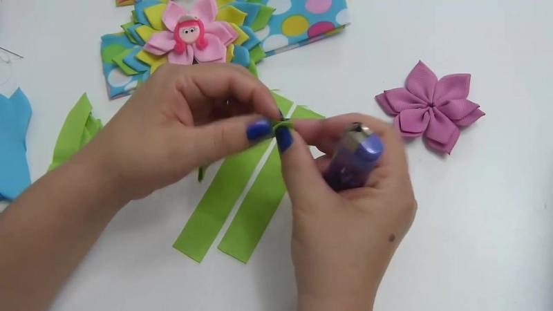 Lazo- Moño multicolor en puntas- Diy moño para balacas paso a paso