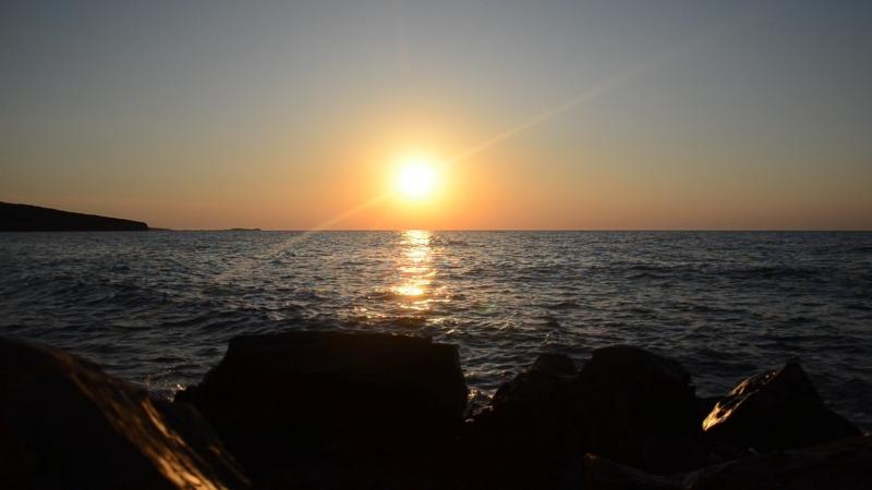 Закат в Азовском море, Керченский п-ов
