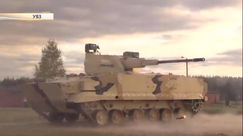 Дистанционно управляемая БРМ-3К поражает мишени из 57-миллиметровой пушки.