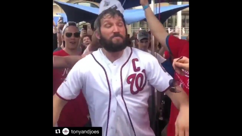 Alex Ovechkin doing keg stands out Stanley Cup