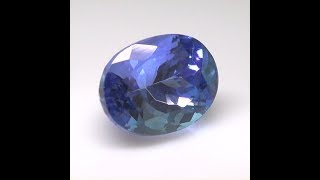 Absolutely Stunning GIL Certified Bluish Violet Tanzanite 2 70 Carats Top Color Clarity Indoor Lig