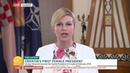 Croatian Female President Kolinda Grabar Kitarovic - Live Speach on ITV