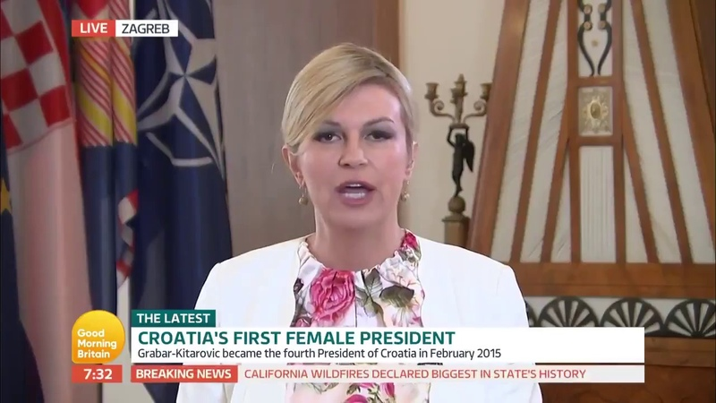 Croatian Female President Kolinda Grabar Kitarovic - Live Speach on ITV