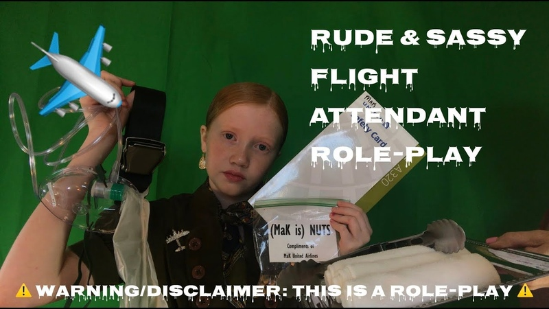 ASMR~ Rude Sassy First Class Flight Attendant Roleplay ✈️( with real props ) ⚠️SASSY ROLE PLAY⚠️