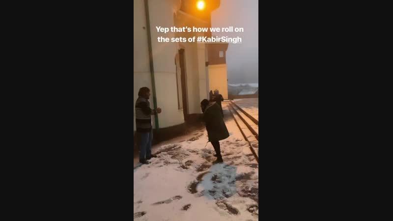 На съёмках Кабир Сингх