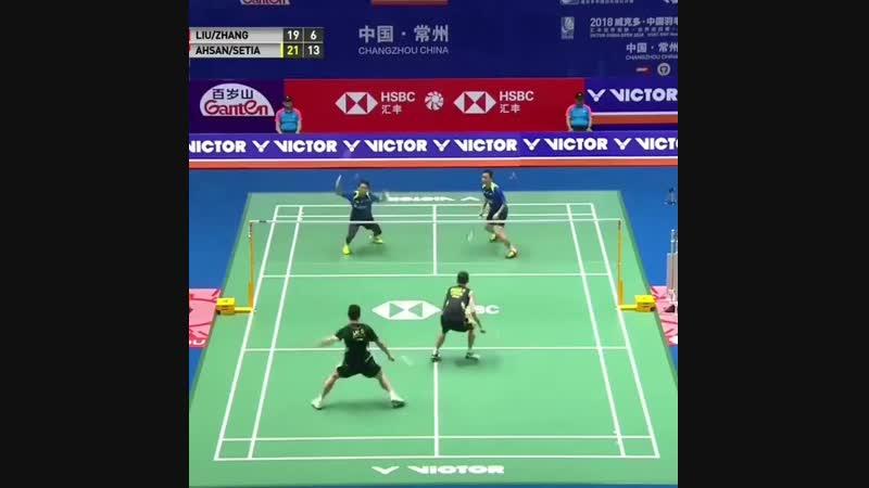 Mohammad AHSAN Hendra SETIAWAN VS Cheng LIU Nan ZHANG