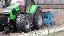 Deutz Fahr Tractor working with Lemken Saphir 7