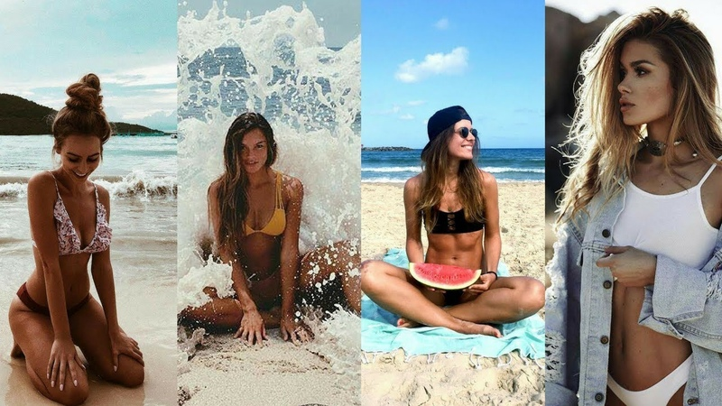 Ideas para Fotos en bikini tomadas en la playa.
