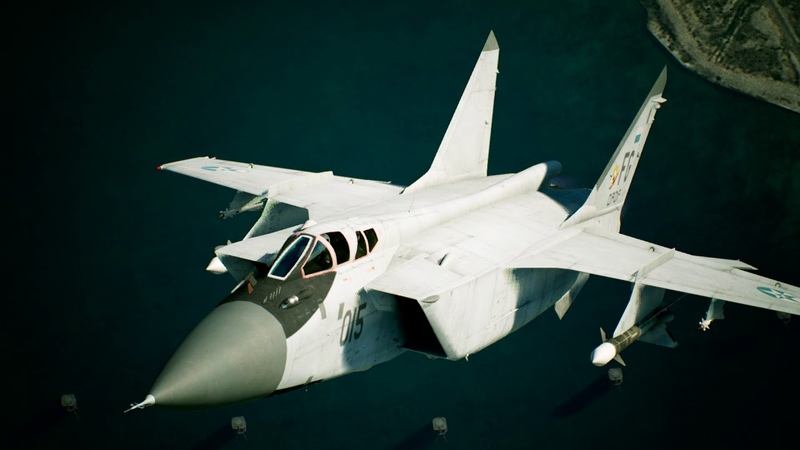ACE COMBAT 7 SKIES UNKNOWN Aircraft Profile MiG 31B PS4 PSVR X1 PC